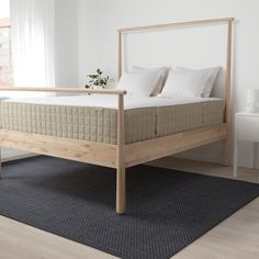 IKEA HIDRASUND pocket sprung mattress Designed to be used on one side only – no need to turn. Mattress On Floor, Latex Mattress, Best Mattress, Mattress Pad, Bed Base, Mattress Springs, Natural Latex, New Beds, Tobias