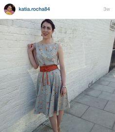 SOIshowoff June: Betty Dress in sunshine bouquet fabric