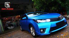 Honda City Matte Metallic Blue Full Wrap   #tomsstickers #hondacity #honda #metalllicblue #carwrap #fullwrap #carsticker #kualalumpur #malaysia