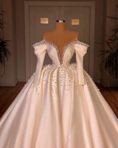 Fancy Wedding Dresses, Sheer Wedding Dress, Glam Dresses, Princess Wedding Dresses, Pretty Dresses, Bridal Dresses, Beautiful Dresses, Ball Gowns Evening, Ball Gowns Prom