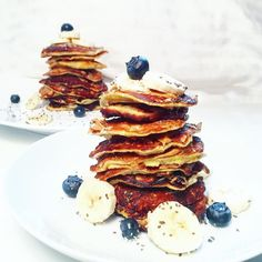1.30.2017  I am currently super sick with a virus and am craving these yummy wheat-less banana pancakes right now. I came down with the crud this weekend and have a stuffy nose congestion a cough plus my throat is killing me.  If you have any at-home remedies for cold symptoms let me know below!  Since I am not feeling the best today I just thought I would reminisce about this stack of deliciousness I had for breakfast a couple weeks ago.  I wish I could be eating these this morning but…