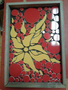 "Neles Mosaik Bild ""Energie"". Workshop bei mosaicked-berlin."