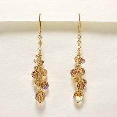 Topaz Crystal Twilight Earrings