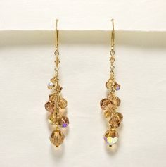 Topaz Crystal Twilight Earrings