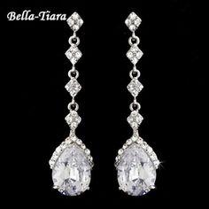 Tipton - Elegant CZ teardrop Earrings - SALE