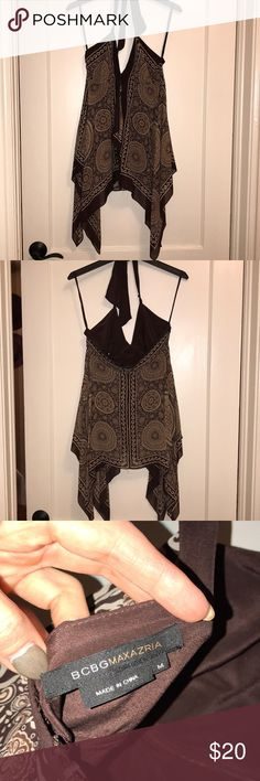 Bcbg going out top Silk boho halter going out top. BCBGMaxAzria Tops Blouses