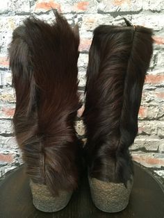 f951ad4568a3 Vintage GUCCI Italian Fur Apres Ski Boots size 37