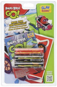 The Angry birds Clay Buddies are here! Your friends to mold have arrived. The real Angry birds Clay Buddies are now created with your own hands! Shape your favorite Angry Birds! You can shape, have fu