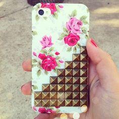 Imagen de iphone, flowers, and case