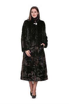 a6bb9c113e1e Adelaqueen Faux Fur Coat Jacket Women Black Long Sleeve Coat Jacket Large Winter  Coat Clothing Plus