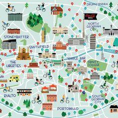 Dublin Map - Fuchsia MacAree