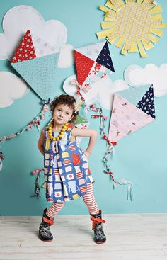 Kites Red & Pink Photo Backdrop Birthday party ideas for kids diy crafts lovelane designs imaginative playwear handmade kids costumes gifts guide