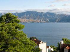 Mosor Mountain, as viewed from Postira on the island of Brac #Croatia #YachtWorldCharters #MosorMountain