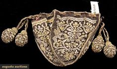 Augusta Auctions, November 2009 Museum Fashion & Textile Sale, Lot 196: Tapestry Weave Small Purse, 1600s