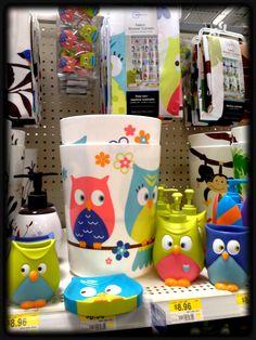 Owl Set For The Bathroom