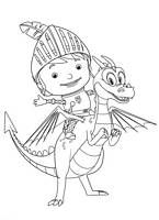Mike the Knight coloring pages - kolorowanka Rycerz Mike