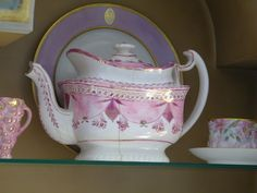 Pink Lusterware..THIS IS WONDERFUL BUT DO YOU SEE THE CRACK  I WOULD TURN IT UNLESS IT'S WORSE ON THE OTHER SIDE