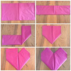 ImageFind images and videos on We Heart It - the app to get lost in what you love. 3d Origami, Food Design, Handicraft, Sewing Projects, Napkins, Valentines, Diy Crafts, Knitting, Heart