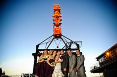 Married Under the Glowing Ray's Sign!