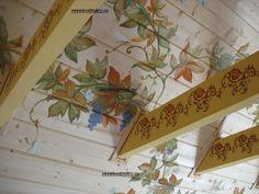 как украсить детскую или спальню .росписи с птицами ,лозой и виноградом   Веселов Дмитрий