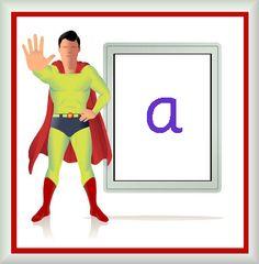 Superhero Alphabet Cards