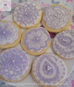 circle henna biscuits Biscuits by Sugar and Icing Cakes Birmingham: Image