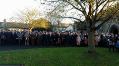 At the Cenotaph, Wivenhoe, Essex, 9.11.2014.