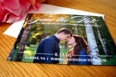 Save the Date Magnet - Save the Date Photo Magnet, Save the Dates, Magnet Save the Date, Personalized Magnets - DEPOSIT