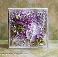 Dorota_mk, Card with flowers