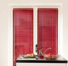 Red Aluminium Venetian Blind £16.00