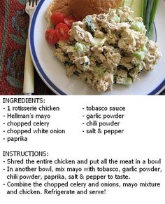 HEB's Chef Prepared Rotisserie Chicken Salad Recipe