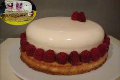 Entremet vanille et framboise - Mes Recettes au Cooking Chef Cheesecake, Birthday Cake, Kenwood Chef, Desserts, Glaze, Food, Mirror, Gourmet, Vanilla