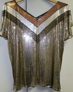 Disco glam, anyone?  I LOVE this late 70's piece by none other than Whiting & Davis.
