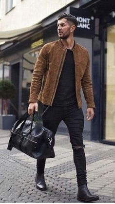 Mens Chelsea Boots With The Strap Boots Street Luxury For Ma.- Mens Chelsea Boots With The Strap Boots Street Luxury For Man Black / 6 - Stylish Mens Outfits, Casual Outfits, Men Casual, Men's Outfits, Mens Casual Boots, Formal Outfits For Men, Fall Outfits, Converse Outfits, Cowboy Outfits