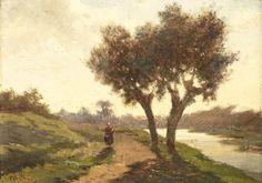 Paul Joseph Constantin Gabriël - Landschap met twee bomen