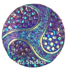 ^`Snap Chunk Button Purple With Purple Sets Charm For Ginger Snap Style Jewelry