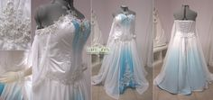 White and Blue Ombre Fantasy Wedding Gown by Lillyxandra.deviantart.com on @deviantART