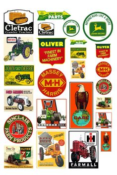 1:25 G scale model tractor farm equipment signs