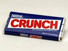 """Nestle Crunch. Still available today but it's now """"Dairy Crunch""""."""