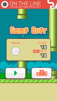 I GOT TO 70 ON FLAPPY BIRD !!!!!  #wahoo #ididit #bejealous #funny #amusing #quotes