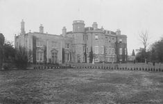 Little Linford Hall, Buckinghamshire - a significant part of the house was demolished in 1959.