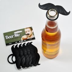 The New Beardo BeerMo's™ are ideal party favours as they liven up any shindig or night out! Simply clip them on any bottled beverage! (... or microphone, baby pacifier etc...!) The best part is Custom