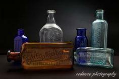antique glass bottles - Google Search