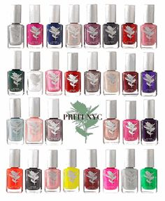 Priti NYC Non-Toxic, Natural Nail Polish is 100% vegan and safe for children and pregnant women.