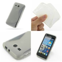 PDair Soft Plastic Case for Huawei Ascend Y511 (Translucent/S Shape pattern)