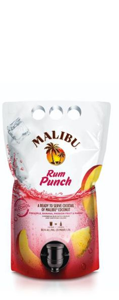 MALIBU® RUM Cocktails Rum Punch  MALIBU RUM PUNCH COCKTAIL is a delightful blend of Caribbean Rum, with natural coconut, pineapple, banana, passion fruit and mango flavors. So come together and share the sunshine spirit, wherever you are. Pour over ice. Nice.