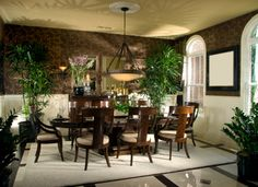 Classy British Colonial Dining Room