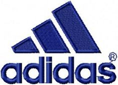 adidas free embroidery logo. Machine embroidery design. www.embroideres.com