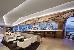 Etihad Airways First and Business Class Lounge JFK T4 Jamaica Queens, NY