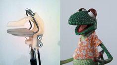 """Gilbert"" rod mechanism and final puppet from ""The Moe Show""."